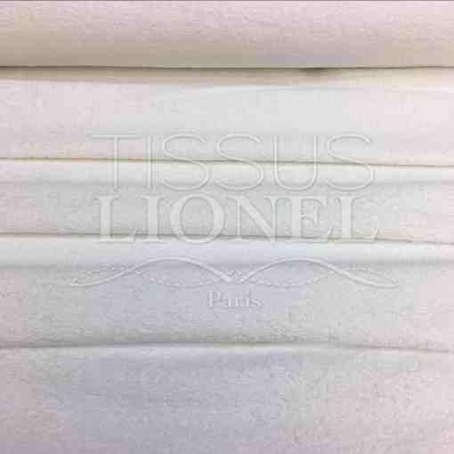 Tissu eponge blanc