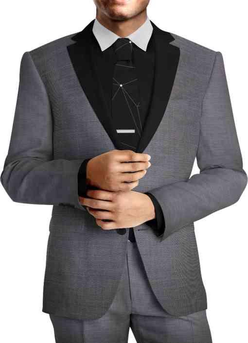 Tissu lainage gris fil à fil pure laine costume