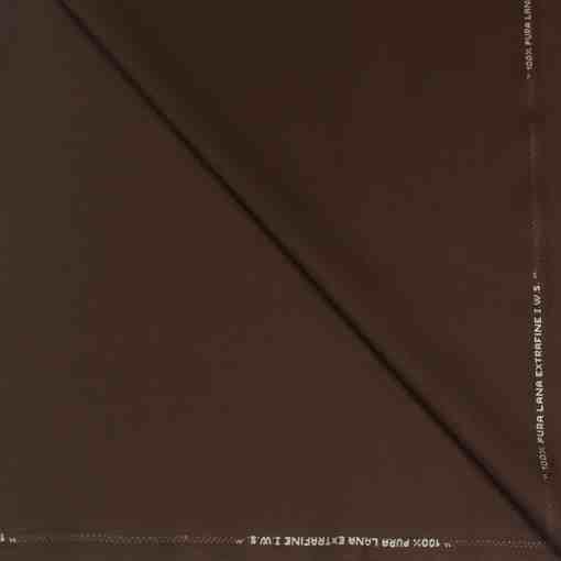 Tissu lainage marron by Woolmark