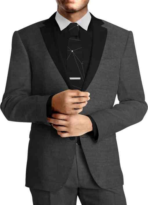 Tissu lainage noir by Loro Piana costume