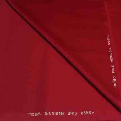 Tissu lainage rouge sang merinos wool rouge sang