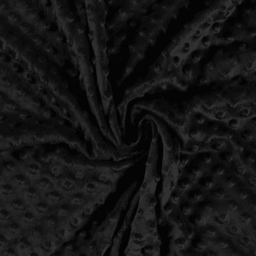 Tissu minky noir