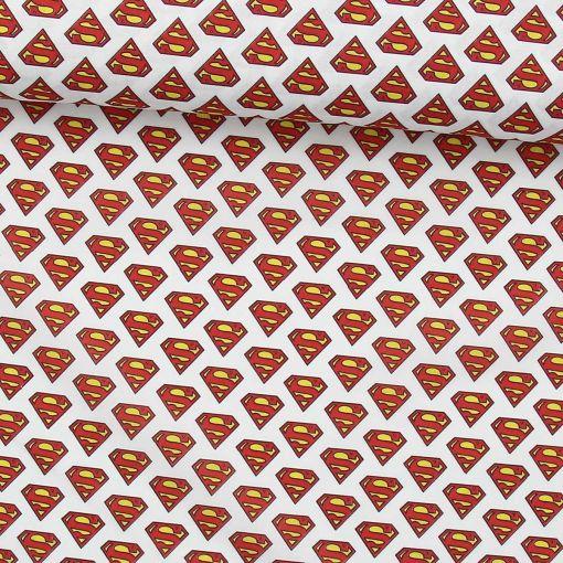 Tissu coton bio Superman