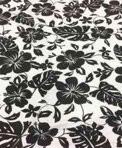 Tissu popeline de coton hawaï noir