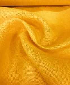 Tissu toile de jute jaune