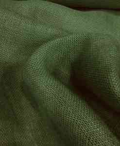Fabric green bottle burlap