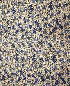 Tissu toucher de soie motif florales 2