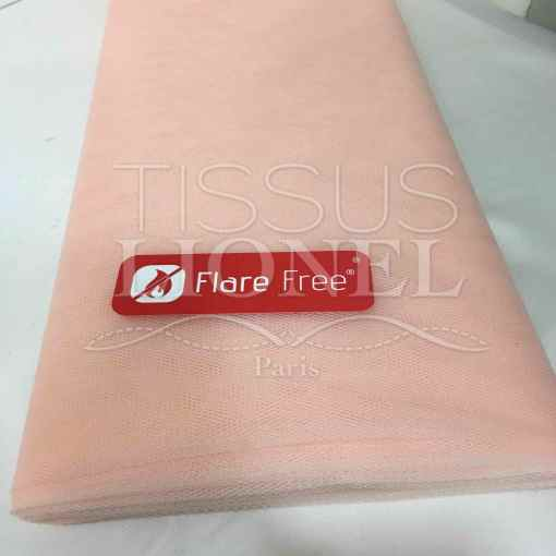 Tissu tulle souple peau rose