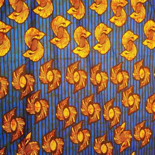 Tissu wax etoile de ninja