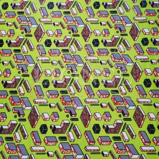 Tissu wax tetris