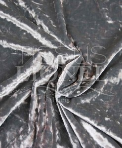 velour froissé changeant gris et gris clair