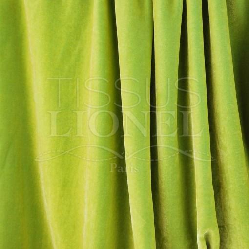 velour soyeux vert anis