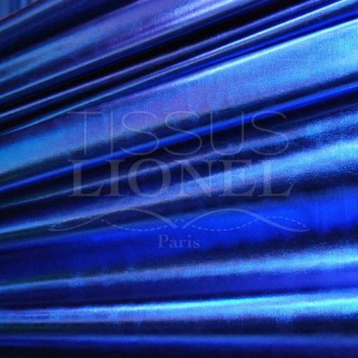 vinyl lamé bleu royal