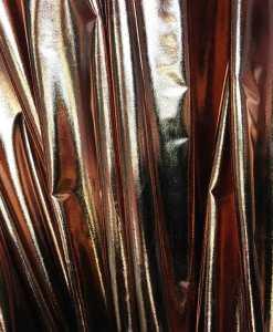 Vinyl lamé marron