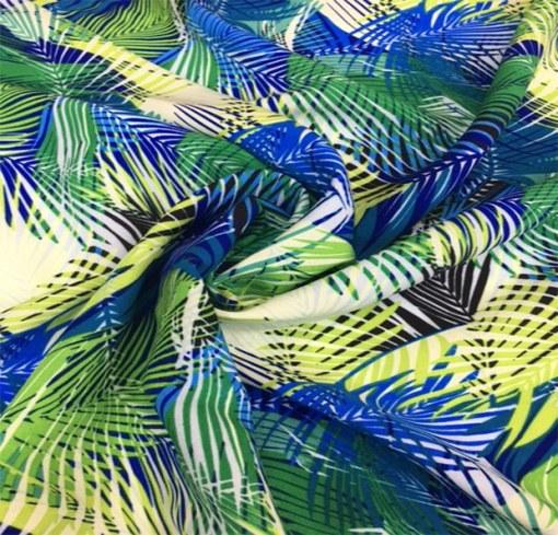 Viscose tropicale ton bleu