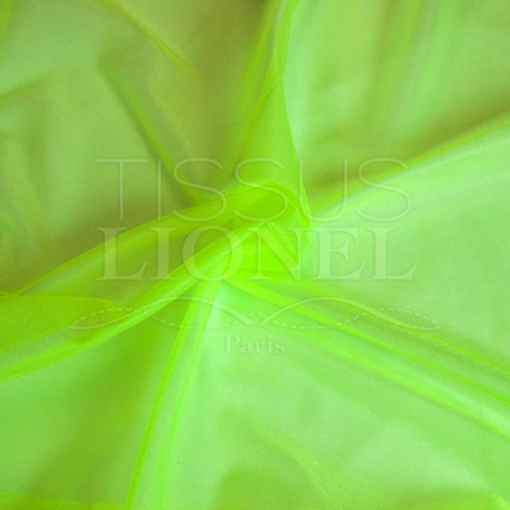 voile cristal jaune fluo