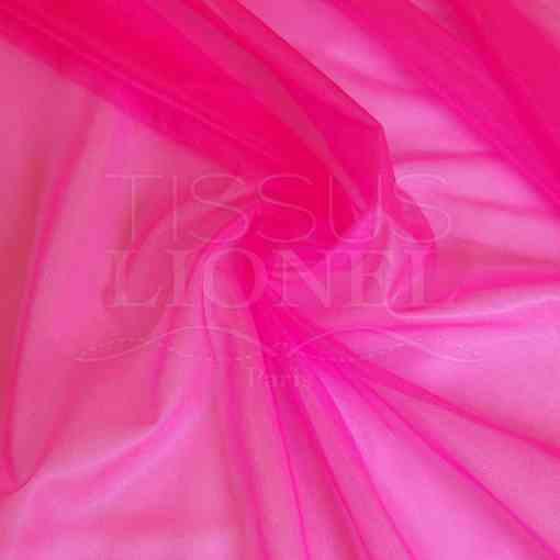 voile cristal rose fluo