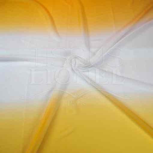 voile dégradé jaune blanc jaune