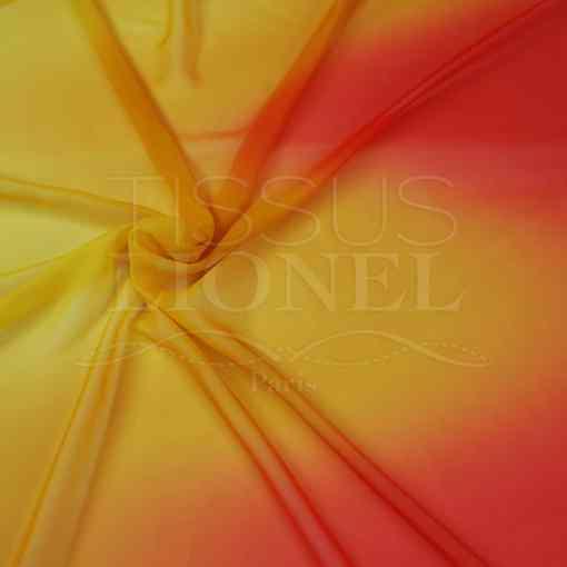 voile dégradé jaune dégradé vague rouge