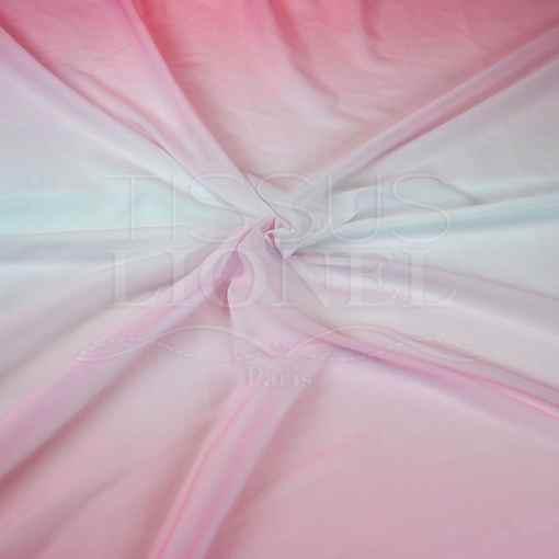 voile dégradé rose pale blanc rose pale