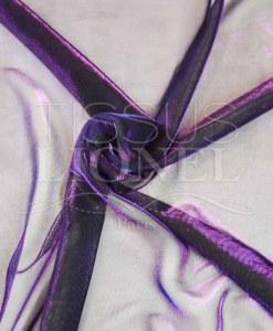 voile lurex changeante bleu et violet