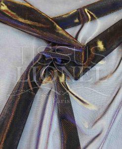 voile lurex changeante violet et or