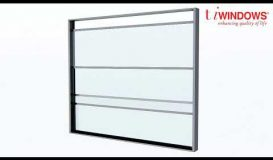 Balustrade windows - Vertical Sliding Motorized Windows
