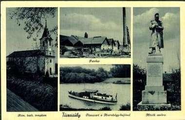 Tiszasüly képeslap 1943