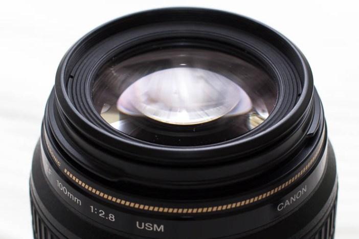 Canon 100mm USM macro frontlencse