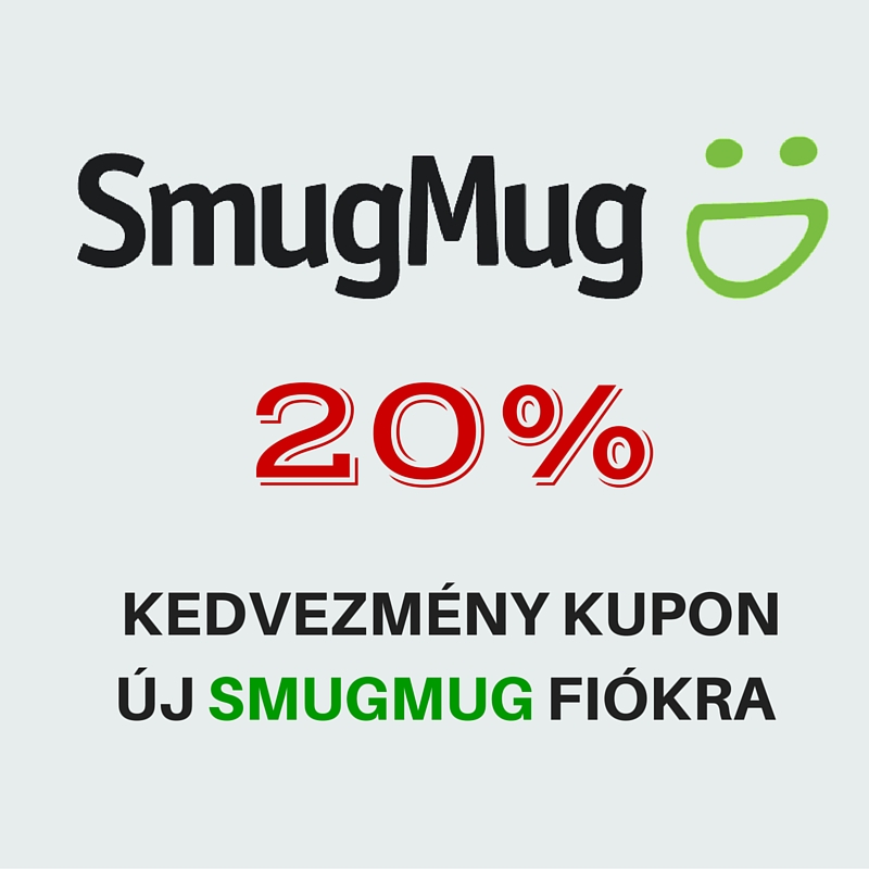 20% kedvezmény kupon Smugmug előfizetésre