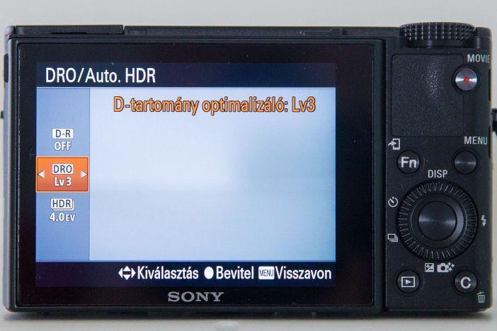 Sony RX100 DRO beállítás