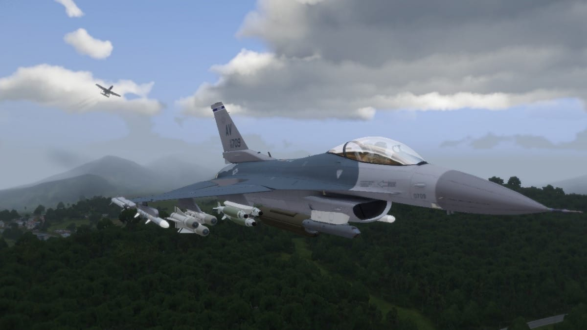 ArmA 3 F-16 Flyover AWS Firewill
