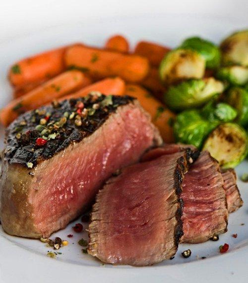 steak filet sliced