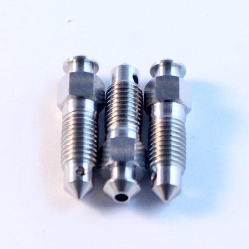 """1/4"""" titanium bleed screw"""