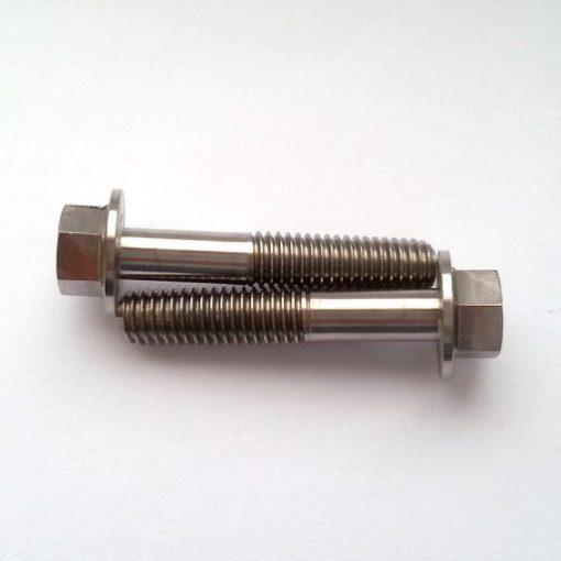 M6 x 32mm hex flange bolt