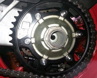 NSR250SE titanium sprocket bolts