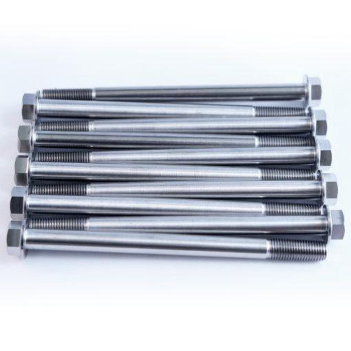 Titanium M10 x 140mm hex flange bolt