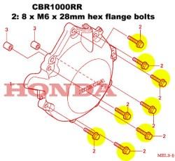 CBR1000RR generator TITANIUM bolt kit