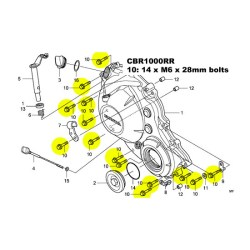 CBR1000RR clutch cover TITANIUM bolt kit