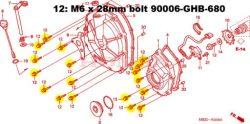 CB600F hornet 18 TITANIUM bolt kit for clutch