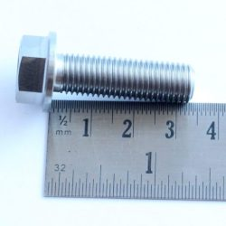 M10 x 33mm TITANIUM hex flange bolt