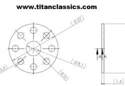 M8 cross drilled titanium washer