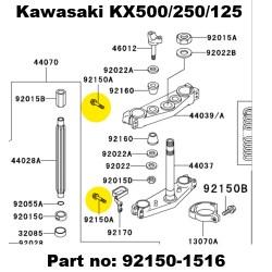 kx500 titanium yoke bolts