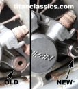 Old and new Nissin slider pin