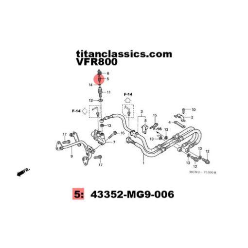 VFR800 rear brake hose