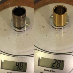 Titanium caliper piston