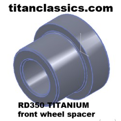 rd350 TITANIUM wheel spacer