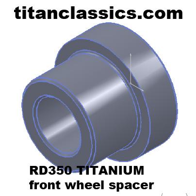 rd350 TITANIUM wheel spacer
