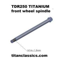 tdr TITANIUM front spindle