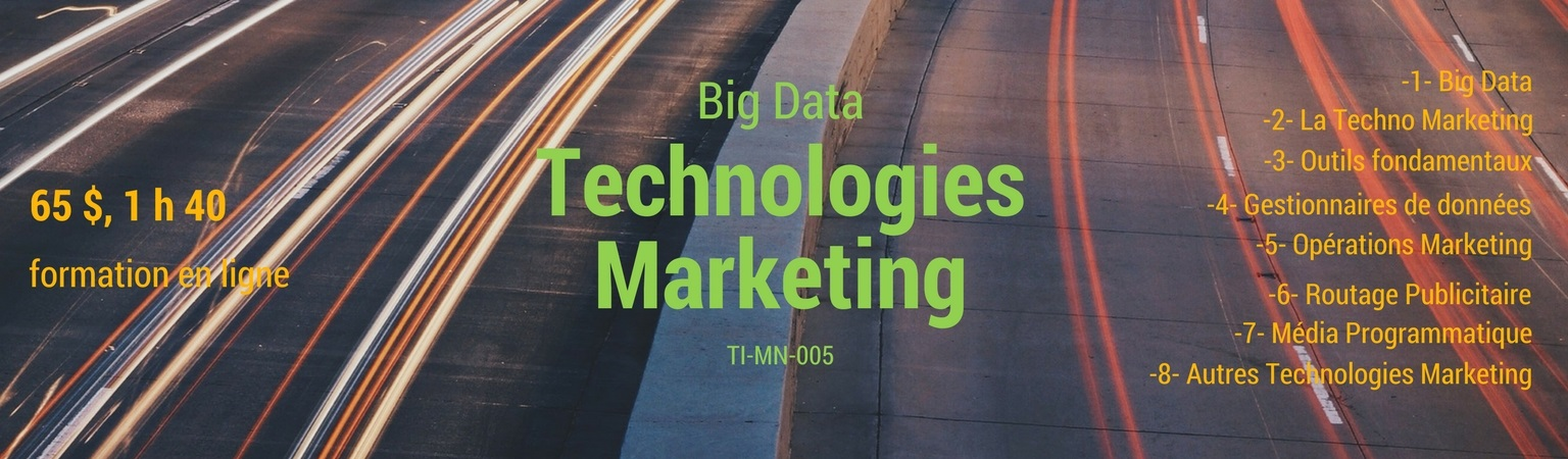 Technologie Marketing et le Big Data
